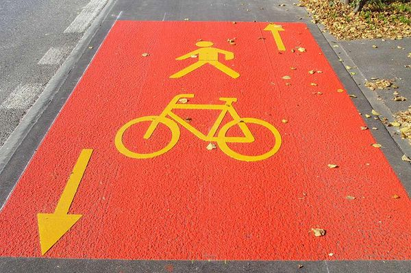 Red cycle route