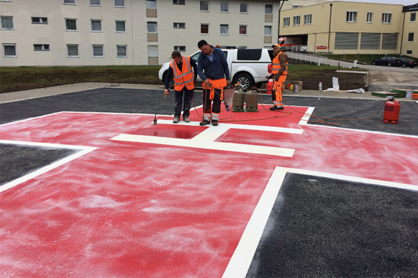 Application of helipad in Scongau
