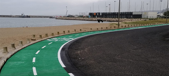 Portugese bike lane in RollPlast