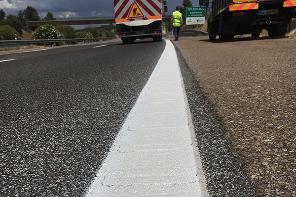 road marking got refreshed