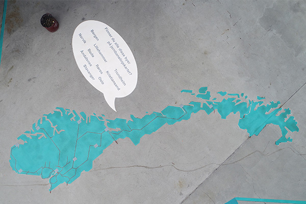 DecoMark® map and speech bubble