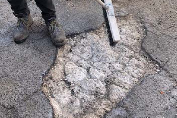 Preparation of pothole repair