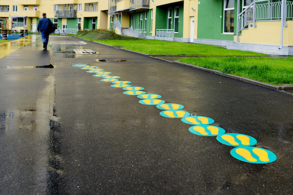 Colorful footsteps