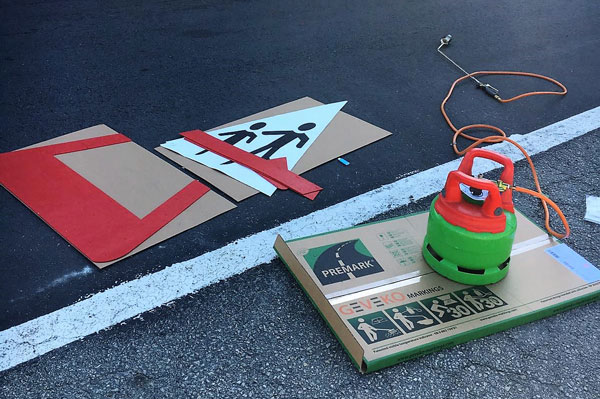 Gas burner and broom - then PREMARK can be applied